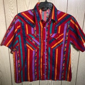 Very funky vintage western style bright shirt